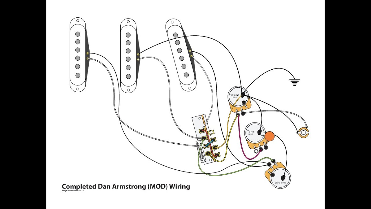 Dan Armstrong Wiring Diagram Diagrams Box Marcus Miller Strat Mod Youtube Guitar Player
