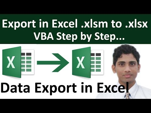 Export Data In Excel .xlsm To .xlsx In Hindi Step By Step