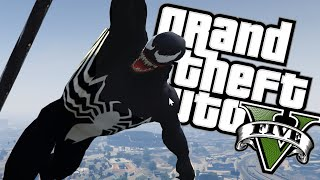 VENOM +MOCE SPIDERMANA! | GTA 5 PC MODY