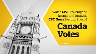 WATCH LIVE: Canada Votes CBC News Election 2015 Special(Live coverage of CBC News special of election 42 results and analysis hosted by Peter Mansbridge. Get live, local, customized election results for every riding in ..., 2015-10-20T19:59:30.000Z)