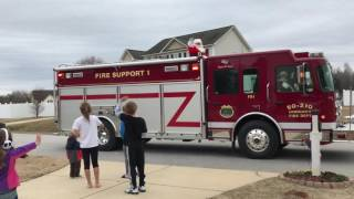 Fire truck Santa