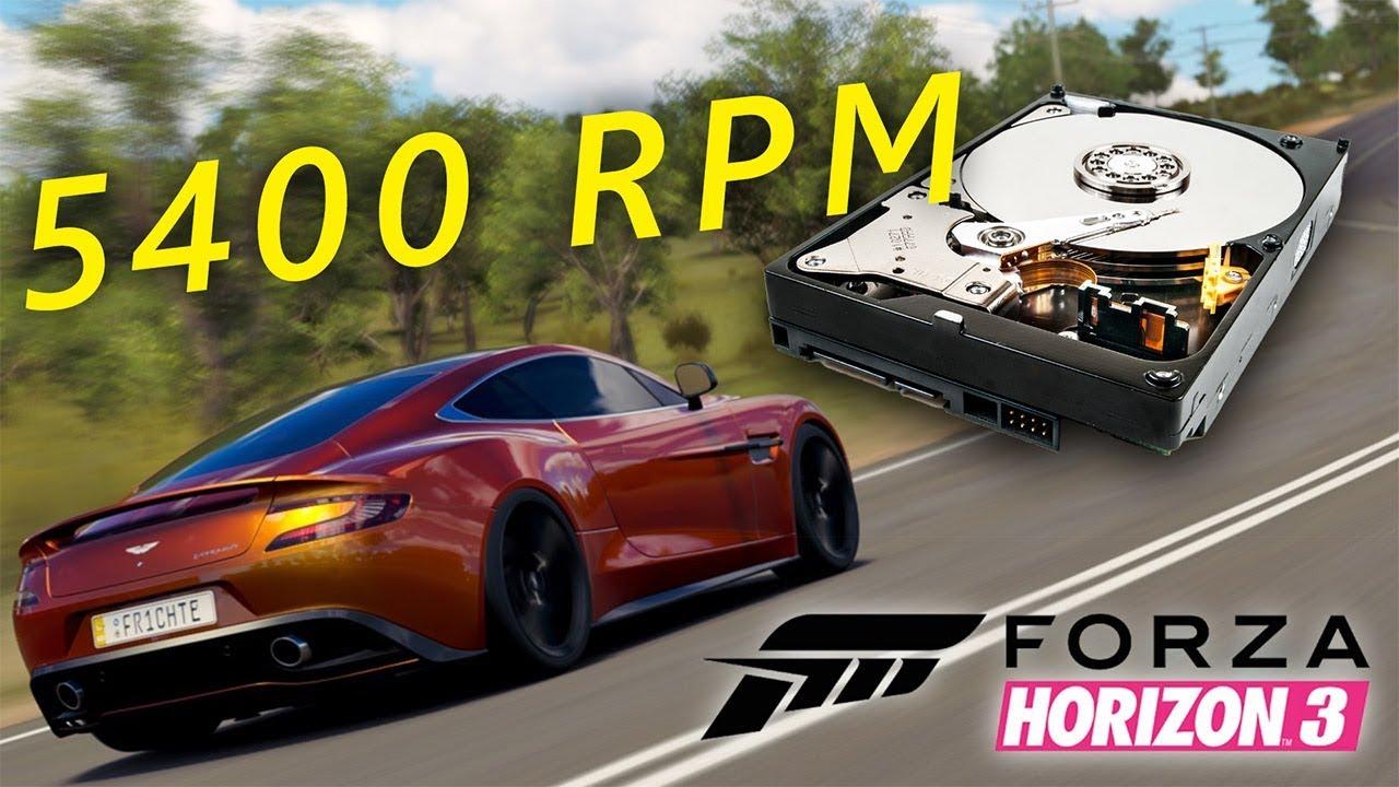 Don't install Forza Horizon 3 on a slow hard drive