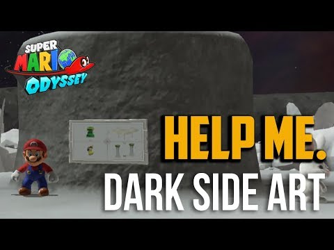 Super Mario Odyssey : All Found With Dark Side Art Moon Locations in Dark Side Kingdom