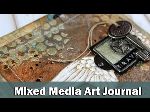 Μixed media art journal - Travel