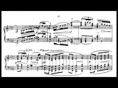 Claude Debussy: La fille aux cheveux de lin, with score  sheet music prelude 8