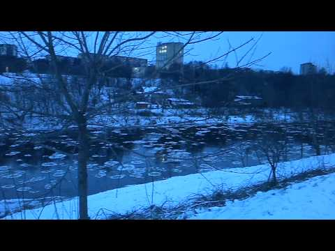Neris River freezing - Icy river Vilnius - Winter in Lithuania