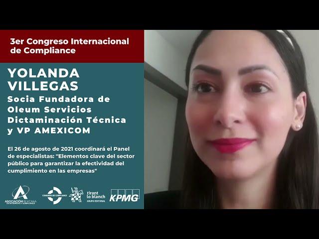 Yolanda Villegas te invita al 3er Congreso AMEXICOM