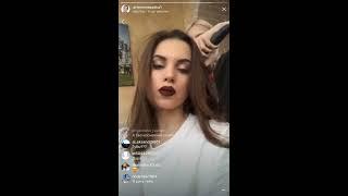 Саше Артемовой сделали крутой макияж, прямой эфир Instagram 24-01-2018