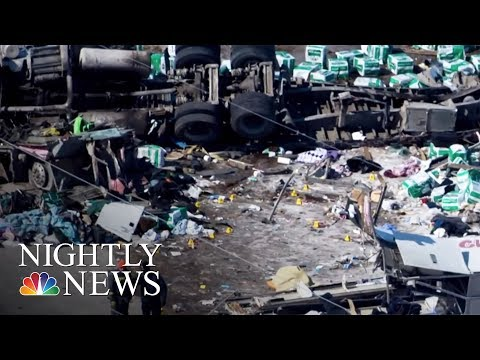 At Least 15 Dead After Canadian Junior Hockey Team's Bus And Truck Collide | NBC Nightly News