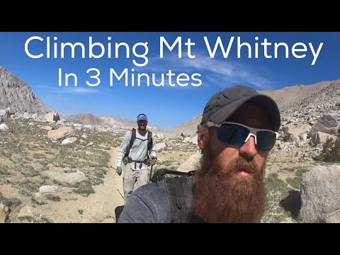 Climbing Mt Whitney in 3 Minutes