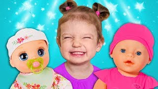 Tim and Essy play with Baby Dolls - Collection video for kids