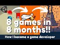 - How I learned Unity and became a Game Developer! 8 games in 8 months! Progress & results