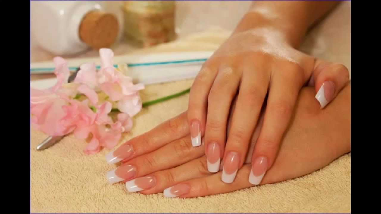 Make Short Acrylic Nails French Manicure Full HD - YouTube