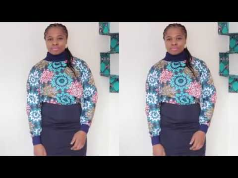 #diy #africanfabric #iphieani HOW TO MAKE A TURTLE NECK JUMPER WITH AFRICAN FABRIC