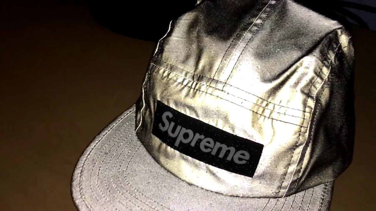Supreme Black Reflective 3M Camp Cap Showcase unboxing (Short) - YouTube 27240f49b65