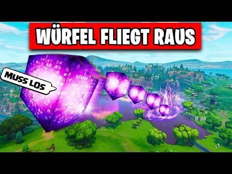 Cube FLYs away FROM Loot Lake!   Fortnite Cube Season 6 Deutsch German