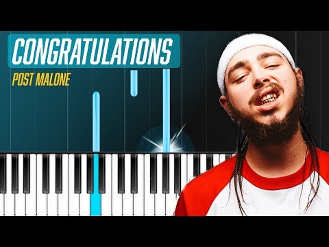 "Post Malone - ""Congratulations"" ft. Quavo EASYPiano Tutorial - Chords - How To Play - Cover"