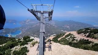 Turkey Fethiye Oludeniz Babadag Cable Car Турция Фетхие Олюдениз Бабадаг канатная дорога