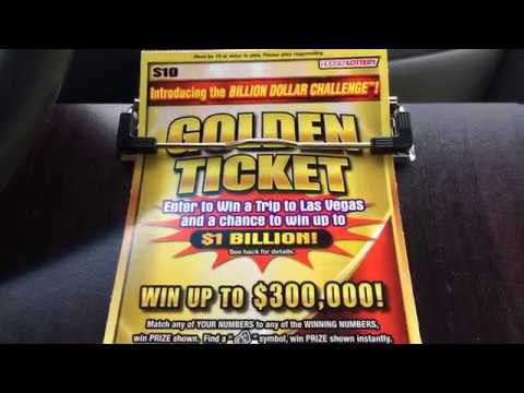 WIN ! **NEW** $10 Golden Ticket Review/Scratch Hoosier Lottery Scratch Off