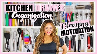 KiITCHEN DRAWERS ORGANIZATION. CLEANING & ORGANIZATION MOTIVAT…