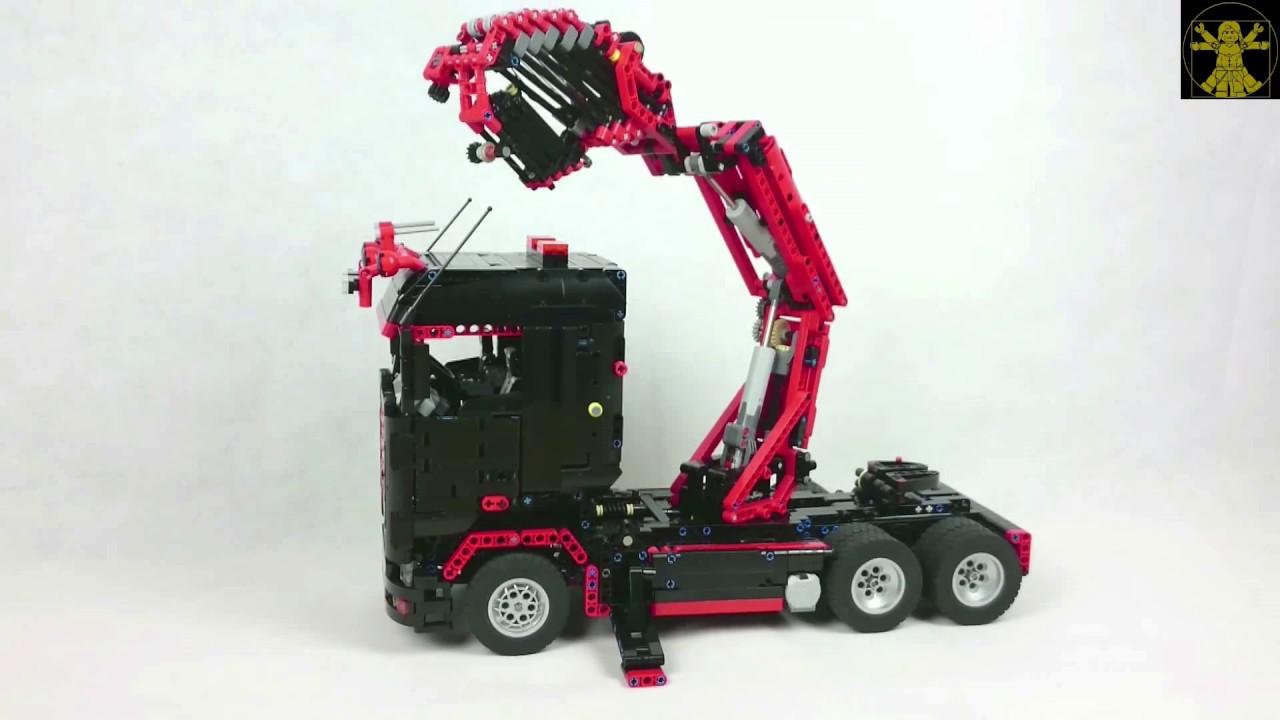 Lego Technic Truck Mounted Knuckleboom Crane with Fly Jib
