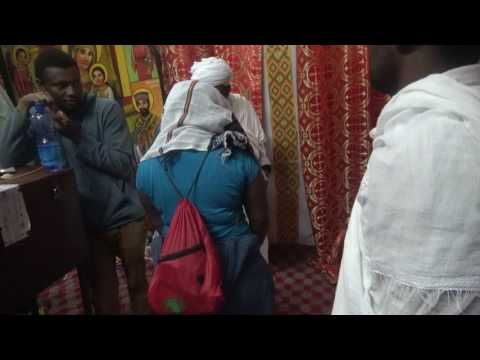 Inside the Rock Hewn Churches in Lalibela - Ethiopia Tour May 2017
