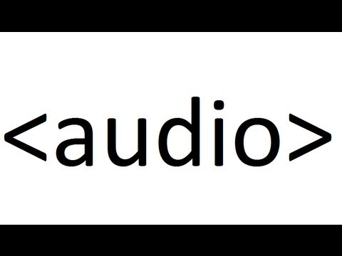 Learn HTML code: Audio