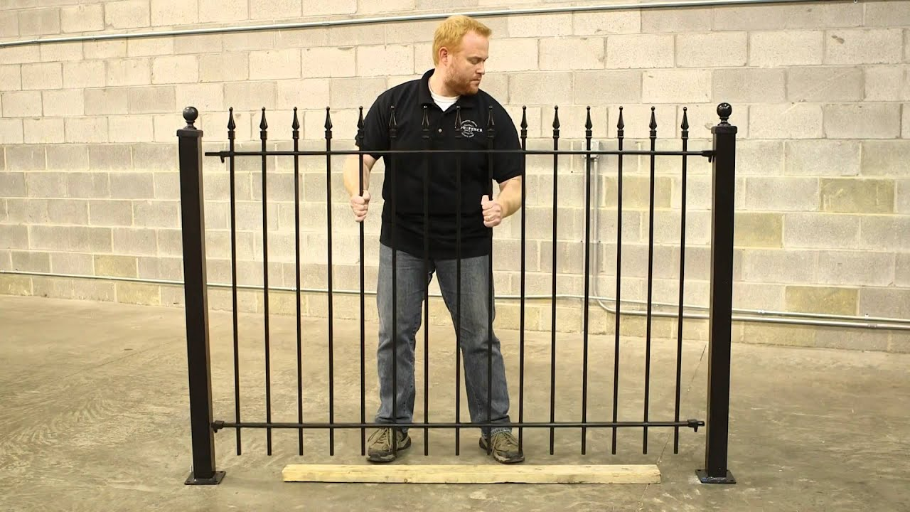 wrought iron fence diy installation youtube
