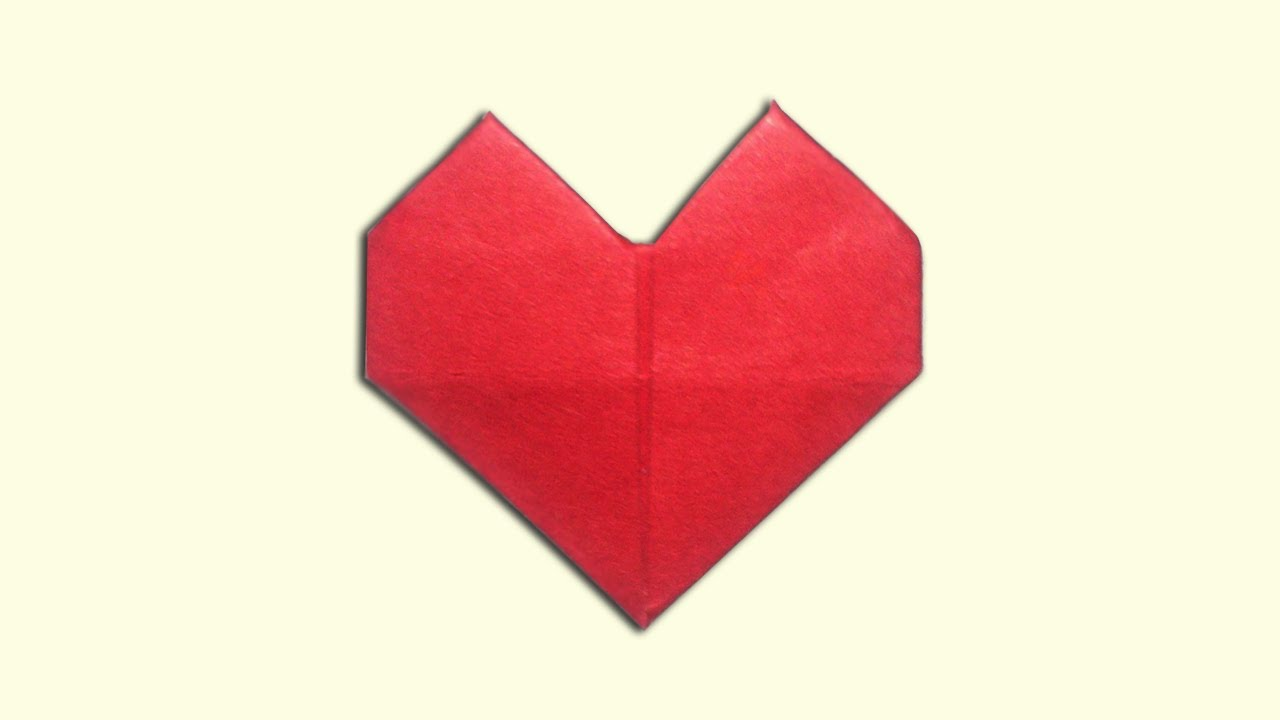 Origami Heart Picture Instructions