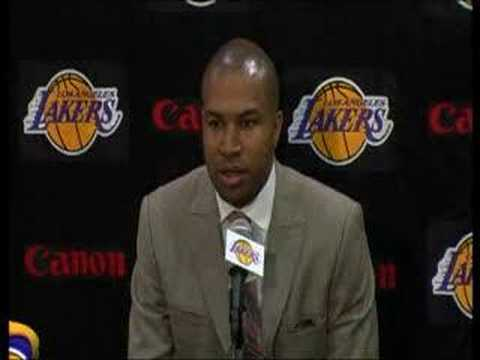 Derek Fisher Signs With Lakers Part 1