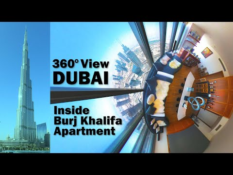 Dubai 360° View Inside Burj Khalifa Apartment – World's Tallest Building