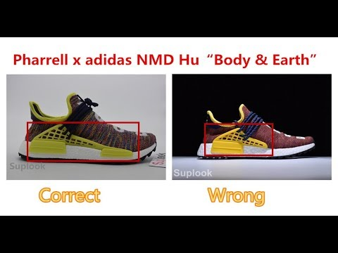 e99f990f9d0 Real Vs Fake Rainbow Road Adidas Human Race NMD Trail by Pharrell Williams  'Multicolour' Review