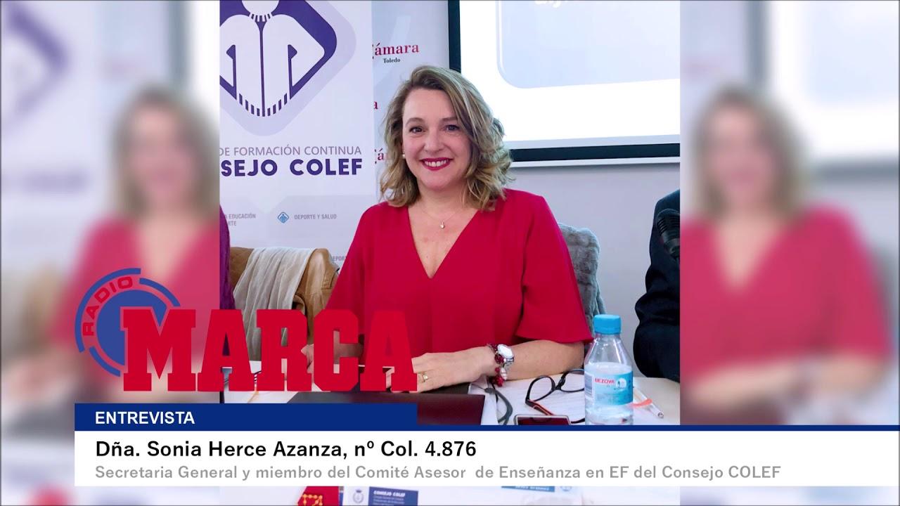 Sonia Herce, en Al Límite de Radio Marca, sobre la EF en el curso 2020-2021
