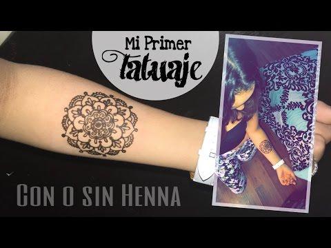 Tatuaje Temporal Con O Sin Henna Adielyly Youtube
