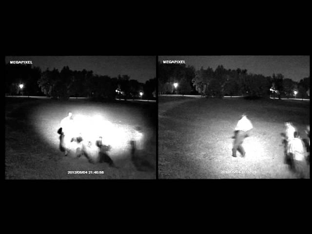 Techson infrareflektor világítási távolsága és szöge szóróüveg nélkül és szóróüveggel