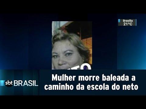 No Rio, mulher morre baleada a caminho da escola do neto | SBT Brasil (15/08/18)