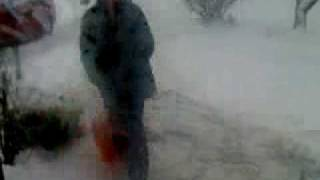 AJ shoveling the snow Thumbnail