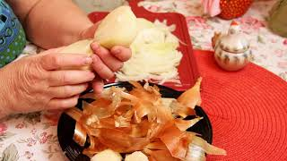 Как оригинально нарезать лук без слез