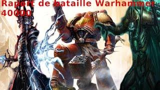 Rapport de bataille warhammer 40000 . Space marine vs eldars vs necron . 1500pts / 4500 pts / fr(, 2015-02-07T22:43:36.000Z)