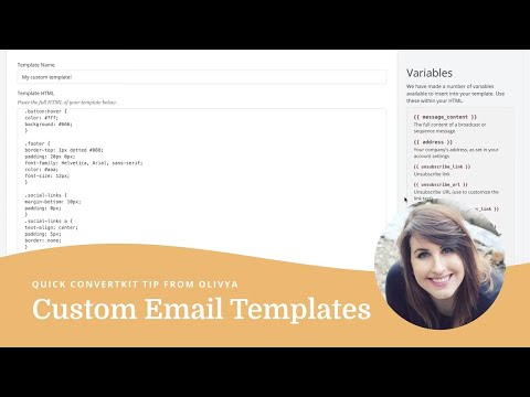 How to create a custom HTML email template in ConvertKit