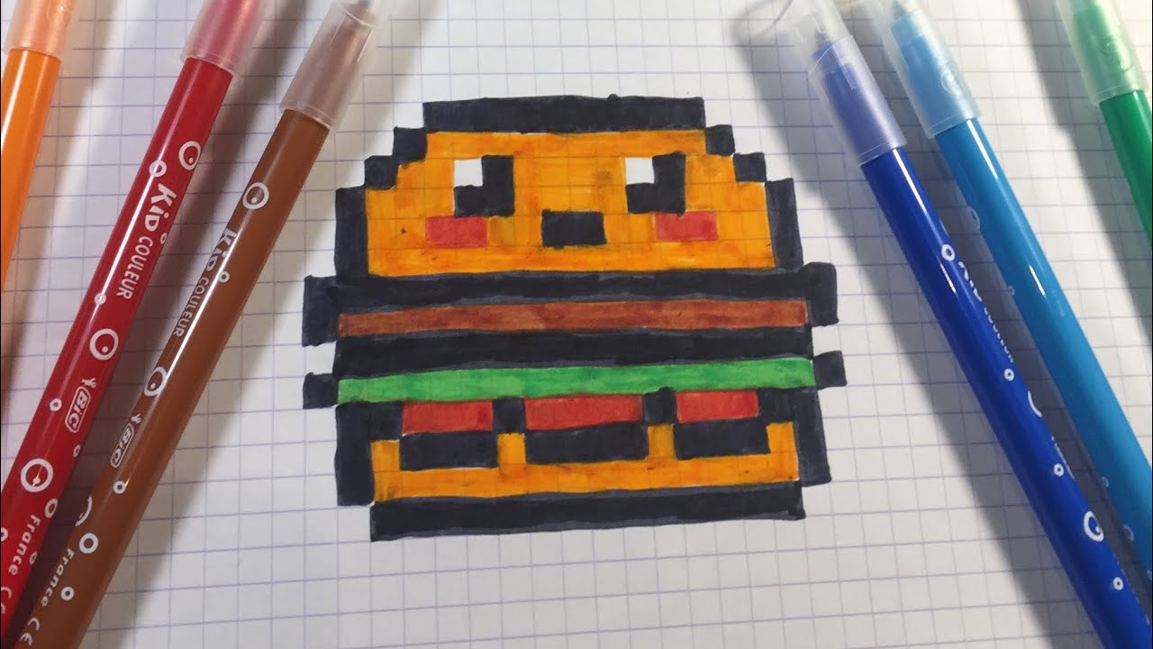 Faire Un Hamburger En Pixel Art How To Make A Hamburger In Pixel Art