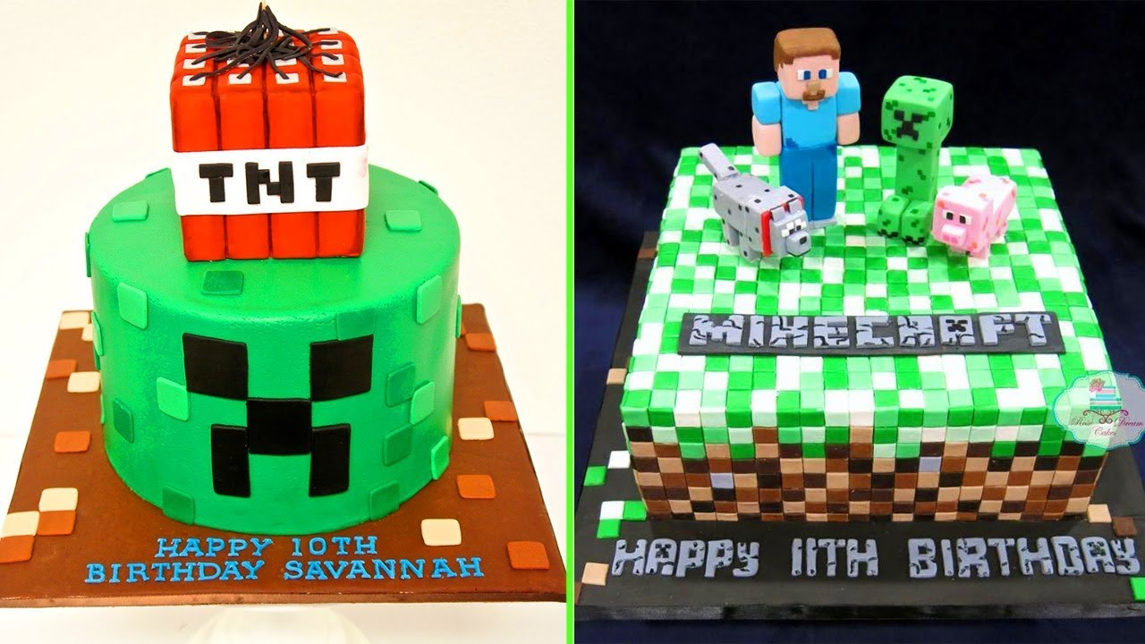 DIY Make Minecraft Cakes Decorating At Home Cake Style 2017