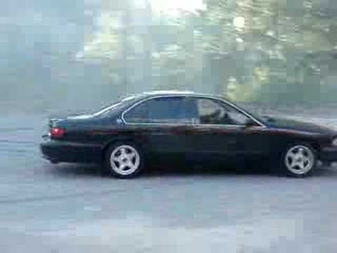 1996 Chevy Impala SS Burnout HUGE Donuts Smoke Everywhere Tires Insane Horsepower Car