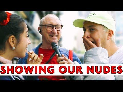 STRANGERS REACT TO OUR NUDES (feat. Lena the Plug) | Chris Klemens