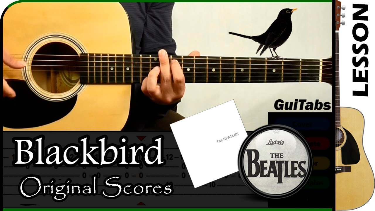 how to play blackbird the beatles guitabs guitar tutorial youtube. Black Bedroom Furniture Sets. Home Design Ideas