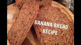 Low Fat Banana Bread- Dairy Free Vegan Recipe