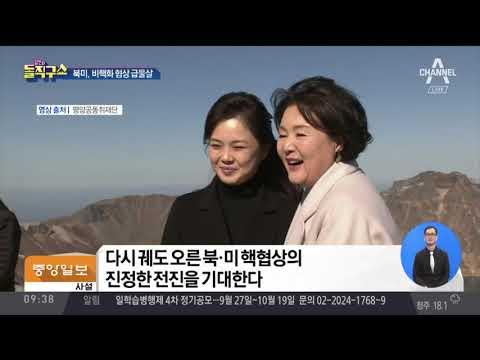 북미, 비핵화 협상 급물살…'연내 종전 선언' 재부상   김진의 돌직구쇼