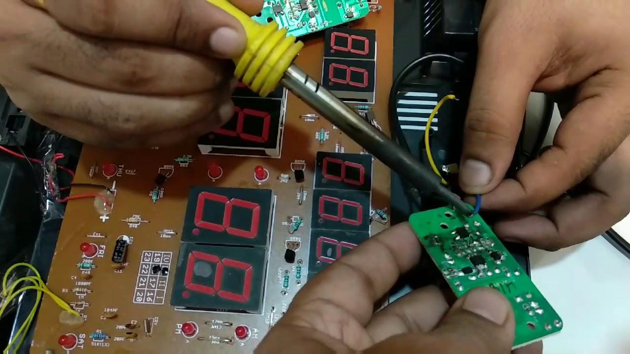 Ajanta Wall Clock Digital Repairing Process Of Circuit Youtube