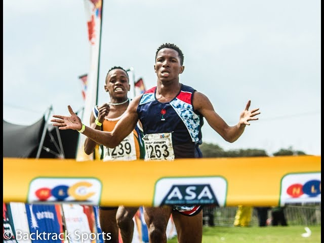 Matwebu dips Malebane on the line in the Junior Men's race