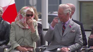 Inuit throat singing leaves Charles and Camilla in stitches